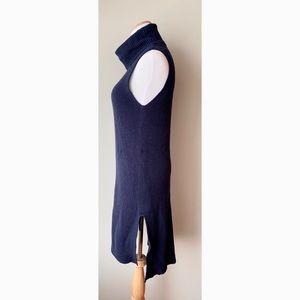 Navi blue turtleneck sweater dress